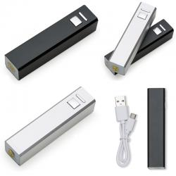 Carregador Power Bank Bateria Slim Tubo Metal  USB Personalizado